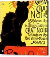 Chat Noir Vintage Acrylic Print
