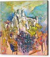 Chateau Cathare De Puylaurens 01 - France Acrylic Print