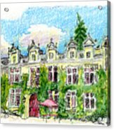 Chateau De Maumont Acrylic Print by Tilly Strauss