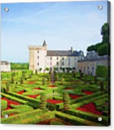 Chateau De Villandry, Loire, France Acrylic Print