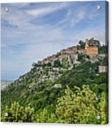 Chateau D'eze On The Road To Monaco Acrylic Print by Allen Sheffield
