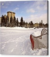 Chateau Lake Louise In Winter In Alberta Canada Acrylic Print