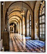 Chateau Versailles Interior Hallway Architecture  Acrylic Print