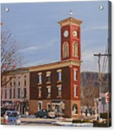 Chatham Clock Tower Acrylic Print by Kenneth Young