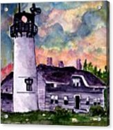 Chatham Lighthouse Martha's Vineyard Massachuestts Cape Cod Art Acrylic Print
