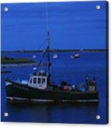 Chatham Pier Fisherman Boat  Acrylic Print