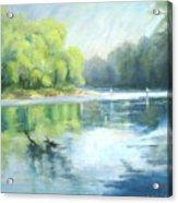Chattahoochee River- Trout Fishing Acrylic Print