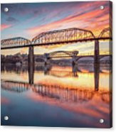 Chattanooga Sunset 5 Acrylic Print