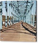 Chattanooga Walking Bridge Acrylic Print by Jake Hartz