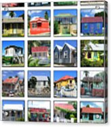 Chattel Houses Of Barbados Acrylic Print