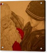 Chatting With Santa Acrylic Print