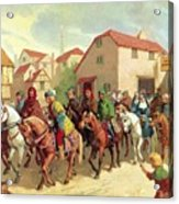 Chaucer's Pilgrims Acrylic Print by van der Syde