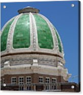 Chaves County Courthouse Green Terracotta Dome Acrylic Print