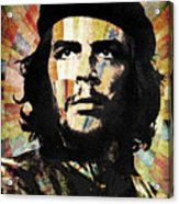 Che Guevara Revolution Gold Acrylic Print