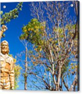 Che Guevara Statue In La Higuera Acrylic Print