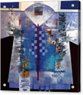 Checkered Kimono Acrylic Print
