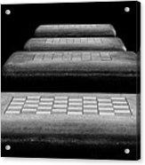 Checkered Steps Acrylic Print