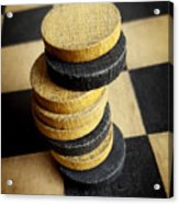 Checkers On A Checkerboard Acrylic Print