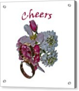 Cheers  A Greeting Card Acrylic Print