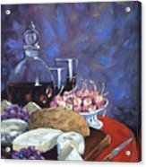 Cheese And Good Wine Acrylic Print