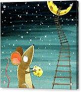 Cheese Moon  Acrylic Print