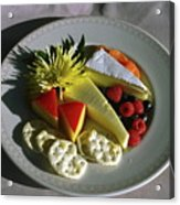Cheese Wedges With Crackers And Fruit Acrylic Print