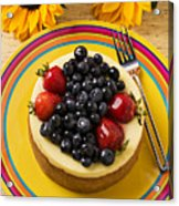 Cheesecake With Fruit Acrylic Print