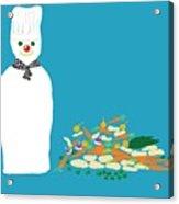 Chef Snowman Acrylic Print