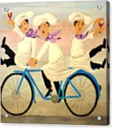 Chefs On A Bike Acrylic Print