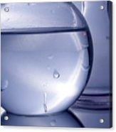 Chemistry Beakers Blue Acrylic Print