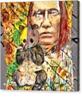 Cherokee Chief With Friend Mr.p Acrylic Print