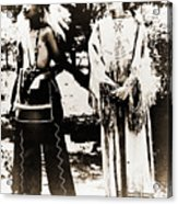 Cherokee Indian Couple Acrylic Print