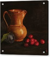 Cherries And Plum Acrylic Print