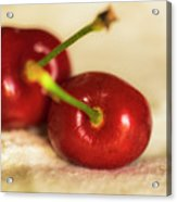 Cherries On White Acrylic Print