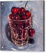 Cherries Original Oil Painting Acrylic Print