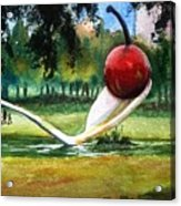 Cherry And Spoon Acrylic Print