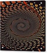 Cherry Basket Weaving Abstract Acrylic Print
