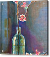 Cherry Blossoms In A Bottle Acrylic Print