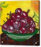Cherry Bowl Acrylic Print by Enrico Pischiera