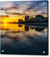 Cherry Grove Beach Front Sunset Acrylic Print