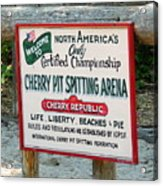 Cherry Pit Spitting Acrylic Print
