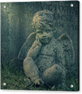 Cherub Lost In Thoughts Acrylic Print