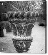 Cherub Planter B W Acrylic Print