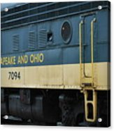 Chesapeake And Ohio Boxcar  Acrylic Print