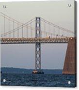 Chesapeake Bay Bridge - Maryland Acrylic Print by Brendan Reals
