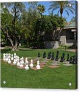 Chess At The Biltmore Acrylic Print