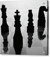 Chess Board And Pieces Acrylic Print by Jon Schulte