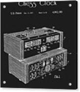 Chess Clock Patent Acrylic Print
