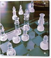 Chess Is Not For Sissies Acrylic Print by Anne-Elizabeth Whiteway