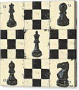Chess Pieces Acrylic Print by Debbie DeWitt